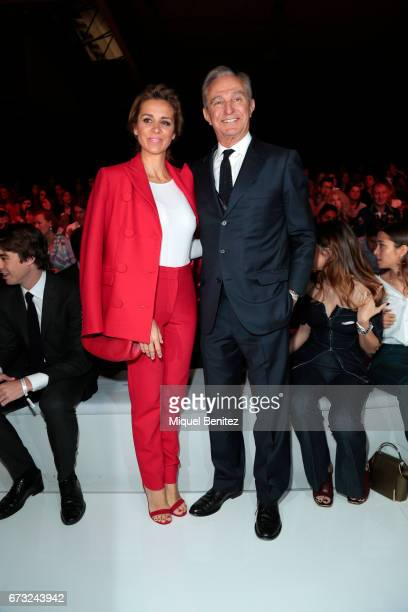 Alejandra Silva and Alberto Palatchi attend the Studio St Patrick collection during Barcelona Bridal Fashion Week 2017 on April 26 2017 in Barcelona...