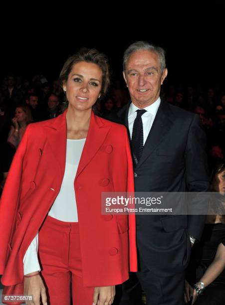 Alejandra Silva and Alberto Palatchi Ribera attend Studio St Patrick show during Barcelona Bridal Fashion Week 2017 on April 26 2017 in Barcelona...