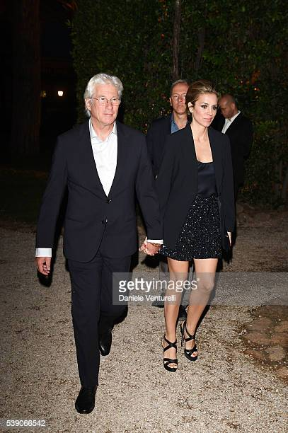 Alejandra Silva and Richard Gere attend McKim Medal Gala In Rome on June 9 2016 in Rome Italy