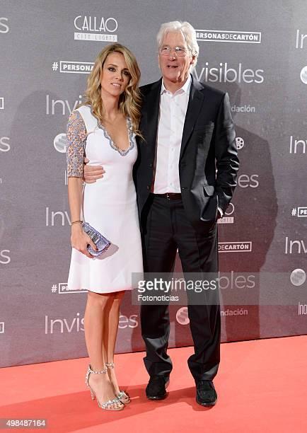 Alejandra Silva and Richard Gere attend the 'Invisibles' Premiere at Callao Cinema on November 23 2015 in Madrid Spain