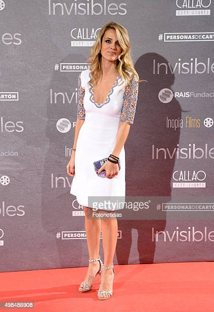 Alejandra Silva attends the 'Invisibles' Premiere at Callao Cinema on November 23 2015 in Madrid Spain