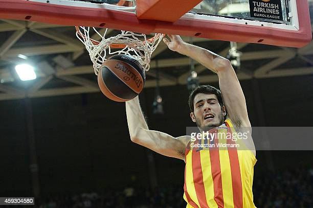 Alejandro Abrines #10 of FC Barcelona in action during the 20142015 Turkish Airlines Euroleague Basketball Regular Season Date 6 game between FC...