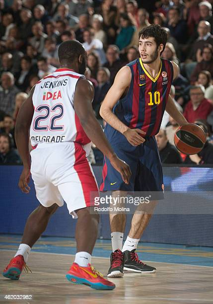 Alejandro Abrines #10 of FC Barcelona in action during the Euroleague Basketball Top 16 Date 4 game between FC Barcelona v Crvena Zvezda Telekom...
