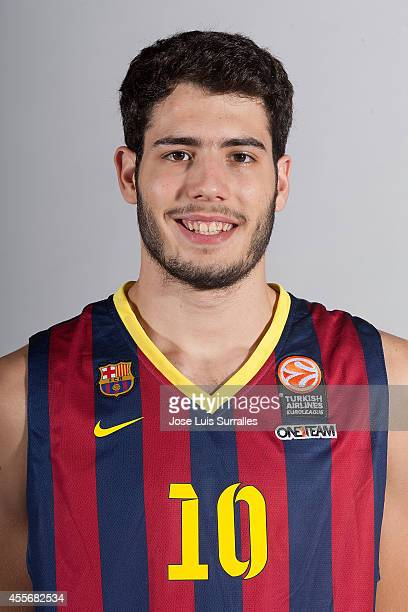 Alejandro Abrines ##10 of FC Barcelona poses during the FC Barcelona 2014/2015 Turkish Airlines Euroleague Basketball Media Day at Ciutat Esportiva...