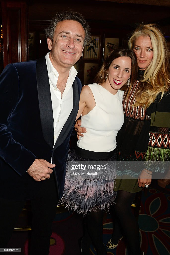 Alejandro Agag, Ana Aznar Botella and Tamara Beckwith attend a private dinner hosted by Fawaz Gruosi, founder of de Grisogono, at Annabels on April 28, 2016 in London, England.
