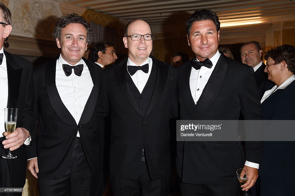 <a gi-track='captionPersonalityLinkClicked' href=/galleries/search?phrase=Alejandro+Agag&family=editorial&specificpeople=2910760 ng-click='$event.stopPropagation()'>Alejandro Agag</a>, Prince Albert II of Monaco and <a gi-track='captionPersonalityLinkClicked' href=/galleries/search?phrase=Giorgio+Veroni&family=editorial&specificpeople=570237 ng-click='$event.stopPropagation()'>Giorgio Veroni</a> attend Prince Albert II Of Monaco Foundation Gala Dinner on April 24, 2015 in Venice, Italy.