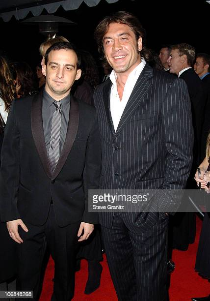 Alejandro Amenabar and Javier Bardem during Palm Springs International Film Festival Awards Gala presented by Tiffany Co Arrivals at Palm Springs...