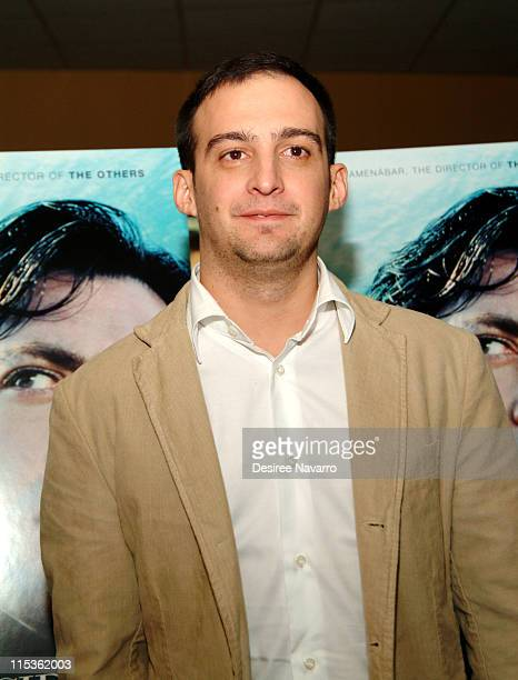Alejandro Amenabar director during 'The Sea Inside' New York City Premiere at United Artist Theatre in New York City New York United States