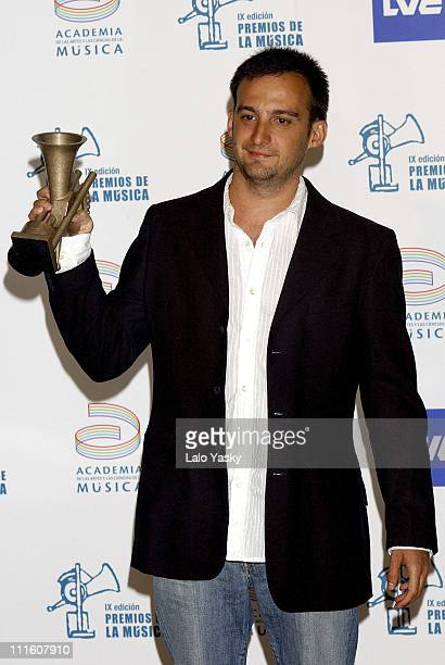Alejandro Amenabar during Ninth Edition of the Spanish Academy of Music Awards Press Room at Palacio de Palacio Municipal de Congresos in Madrid Spain