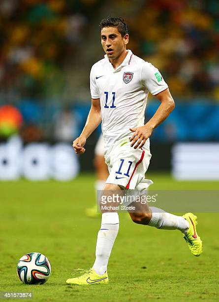 Alejandro Bedoya of the United States controls the ball during the 2014 FIFA World Cup Brazil Round of 16 match between Belgium and the United States...