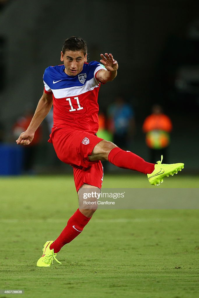 <a gi-track='captionPersonalityLinkClicked' href=/galleries/search?phrase=Alejandro+Bedoya&family=editorial&specificpeople=6703886 ng-click='$event.stopPropagation()'>Alejandro Bedoya</a> of the United States in action during the 2014 FIFA World Cup Brazil Group G match between Ghana and the United States at Estadio das Dunas on June 16, 2014 in Natal, Brazil.