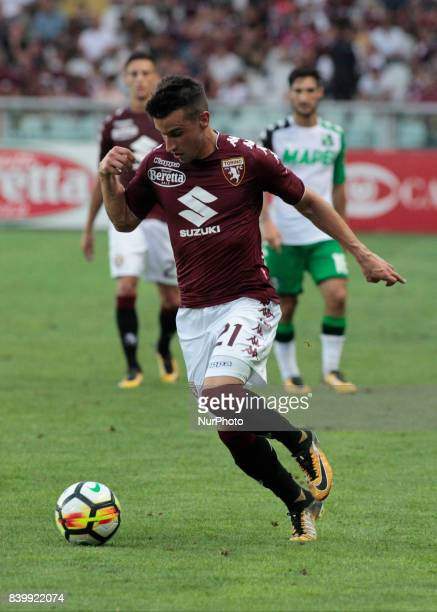 Alejandro Berenguer during Serie A match between Torino v Sassuolo in Turin on August 27 2017
