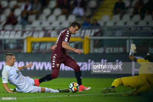 Alejandro Berenguer of Torino FC scores a goal during the TIM Cup football match between Torino FC and Trapani Calcio Torino FC wins 71 over Trapani...