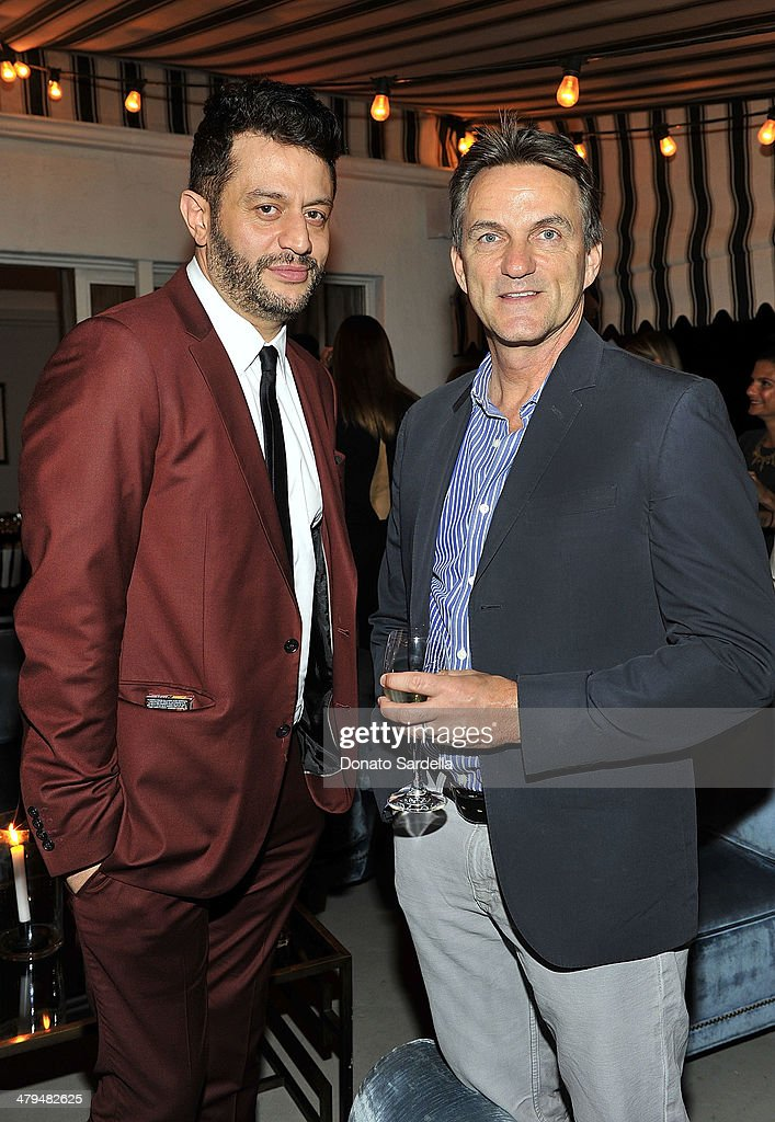 <a gi-track='captionPersonalityLinkClicked' href=/galleries/search?phrase=Alejandro+Blanco&family=editorial&specificpeople=4666881 ng-click='$event.stopPropagation()'>Alejandro Blanco</a> and Stephen Huvane attend Eva Mendes Exclusively at New York & Company Spring launch dinner at Chateau Marmont on March 18, 2014 in Los Angeles, California.