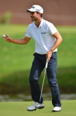 Alejandro Canizares of Spain celebrates during the final round of the Trophee Hassan II Golf at Golf du Palais Royal on March 16 2014 in Agadir...