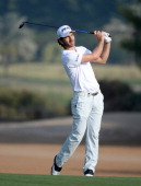 Alejandro Canizares of Spain during the second round of the Omega Dubai Desert Classic on the Majlis Course at the Emirates Golf Club on January 31...