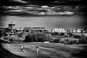 Alejandro Canizares of Spain hits his second shot on the 1st hole during day two of the NH Collection Open held at La Reserva de Sotogrande Club de...