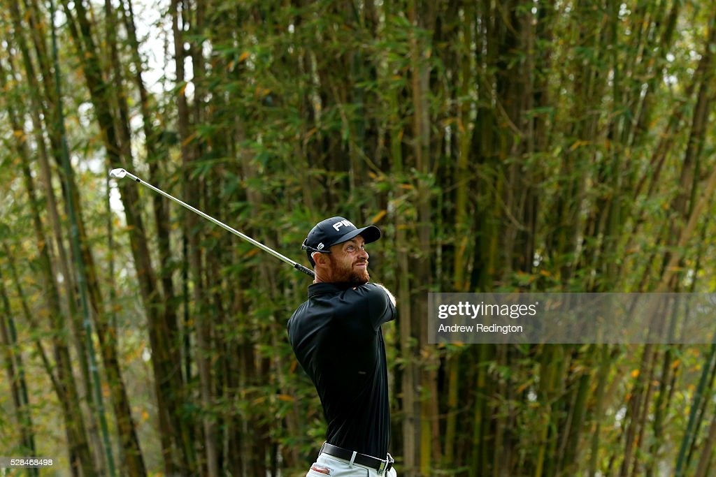 Alejandro Canizares of Spain hits his tee shot on the 17th during the first round of the Trophee Hassan II at Royal Golf Dar Es Salam on May 5, 2016 in Rabat, Morocco.
