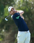 Alejandro Canizares of Spain hits his teeshot on the 12th hole during the second round of the Trophee Hassan II Golf at Golf du Palais Royal on March...