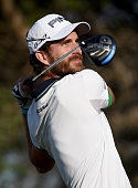 Alejandro Canizares of Spain in action during the final round of the Commercial Bank Qatar Masters at the Doha Golf Club on January 24 2015 in Doha...