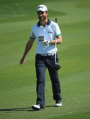 Alejandro Canizares of Spain in action during the final round of the Commercial Bank Qatar Masters at Doha Golf Club on January 24 2015 in Doha Qatar