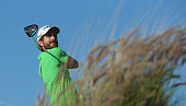 Alejandro Canizares of Spain in action during the second round of the Commercial Bank Qatar Masters at Doha Golf Club on January 22 2015 in Doha Qatar