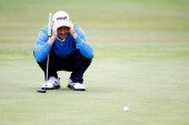 Alejandro Canizares of Spain lines up his putt on the 14th green during day one of the NH Collection Open held at La Reserva de Sotogrande Club de...