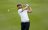 Alejandro Canizares of Spain plays a shot during round two of the Maybank Malaysian Open at Kuala Lumpur Golf Country Club on February 6 2015 in...