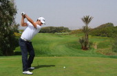 Alejandro Canizares of Spain plays a shot during the final round of the Trophee Hassan II Golf at Golf du Palais Royal on March 16 2014 in Agadir...