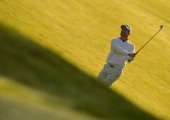Alejandro Canizares of Spain plays a shot during the second round of the Trophee Hassan II Golf at Golf du Palais Royal on March 14 2014 in Agadir...