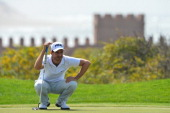 Alejandro Canizares of Spain plays a shot during the third round of the Trophee Hassan II Golf at Golf du Palais Royal on March 15 2014 in Agadir...