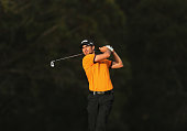 Alejandro Canizares of Spain plays an approach shot on the 6th hole during day two of the Perth International at Lake Karrinyup Country Club on...