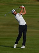 Alejandro Canizares of Spain plays his second shot on the 10th fairway during Alstom Open de France Day One at Le Golf National on July 2 2015 in...