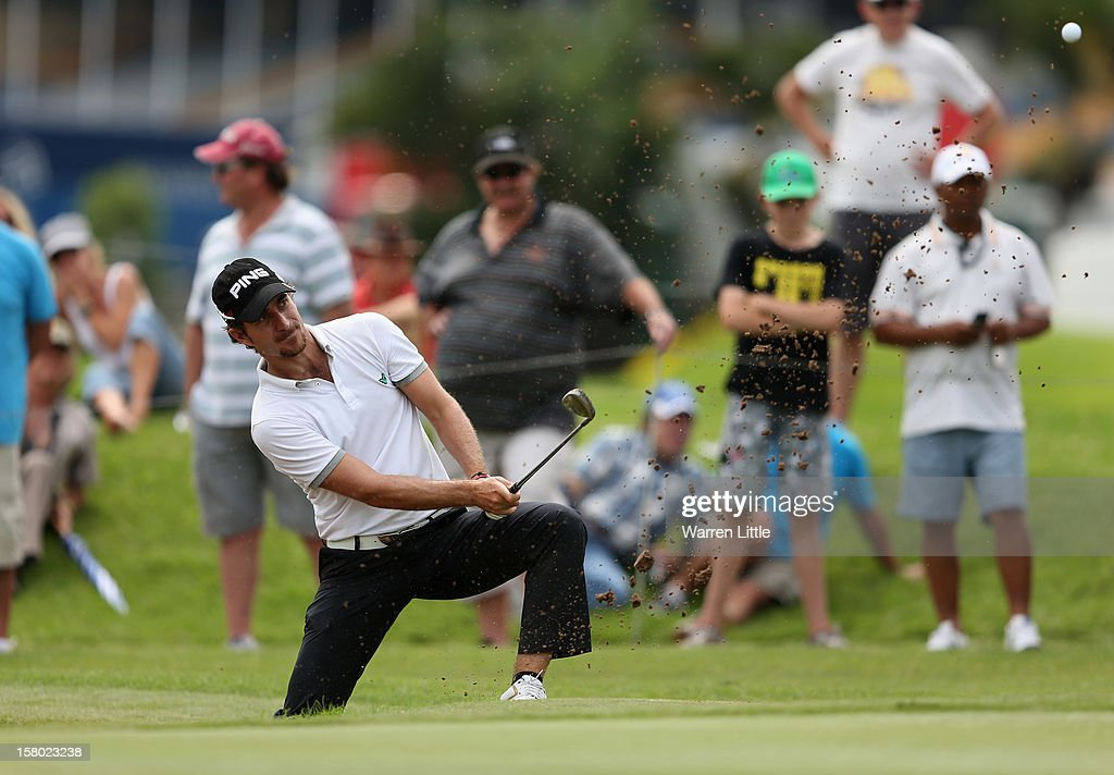 Alejandro Canizares of Spain plays out of the ninth greenside bunker during the second round of The Nelson Mandela Championship presented by ISPS Handa at Royal Durban Golf Club on December 9, 2012 in Durban, South Africa.