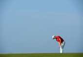 Alejandro Canizares of Spain putts during the second round of the Trophee Hassan II Golf at Golf du Palais Royal on March 14 2014 in Agadir Morocco