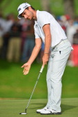 Alejandro Canizares of Spain putts during the third round of the Trophee Hassan II Golf at Golf du Palais Royal on March 15 2014 in Agadir Morocco