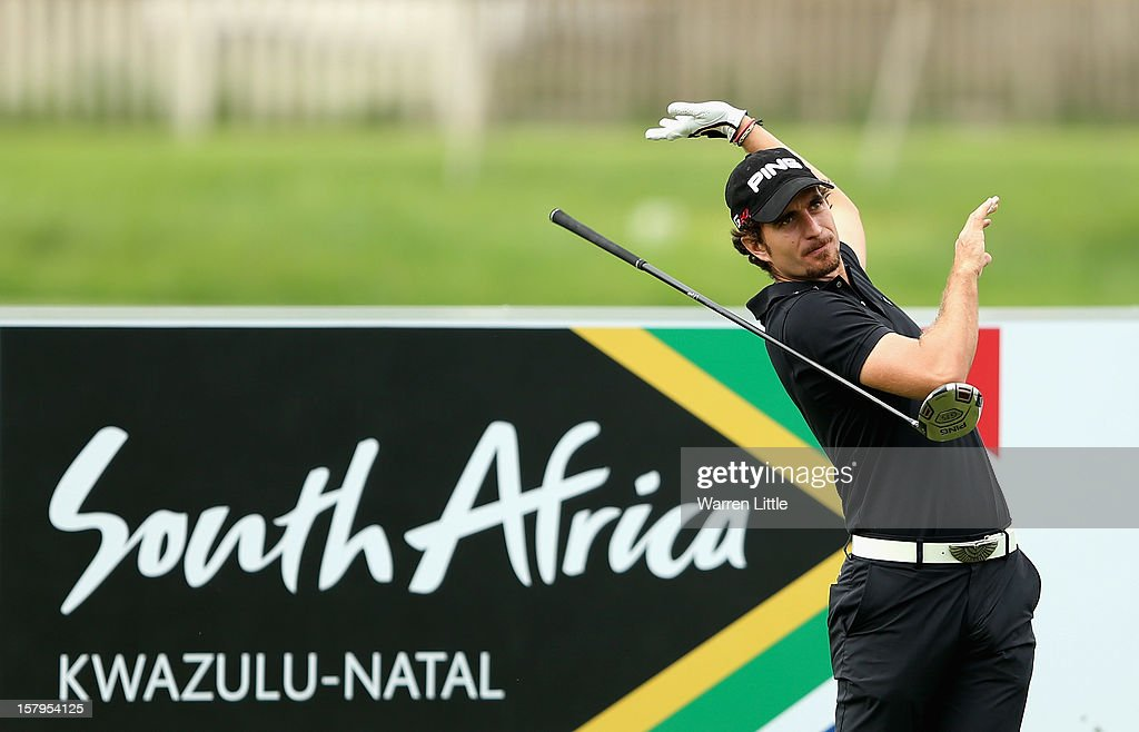 Alejandro Canizares of Spain reacts to a poor tee shot during the first round of The Nelson Mandela Championship presented by ISPS Handa at Royal Durban Golf Club on December 8, 2012 in Durban, South Africa.