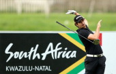 Alejandro Canizares of Spain reacts to a poor tee shot during the first round of The Nelson Mandela Championship presented by ISPS Handa at Royal...