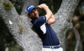 Alejandro Canizares of Spain tees off on the 6th hole during day three of the Open de Espana at Real Club Valderrama on April 16 2016 in Sotogrande...
