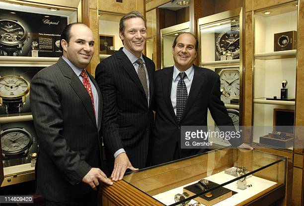 Alejandro Cuellar national sales representative Chopard Marc Hruschka President of Chopard and Leon Adams owner of Cellini