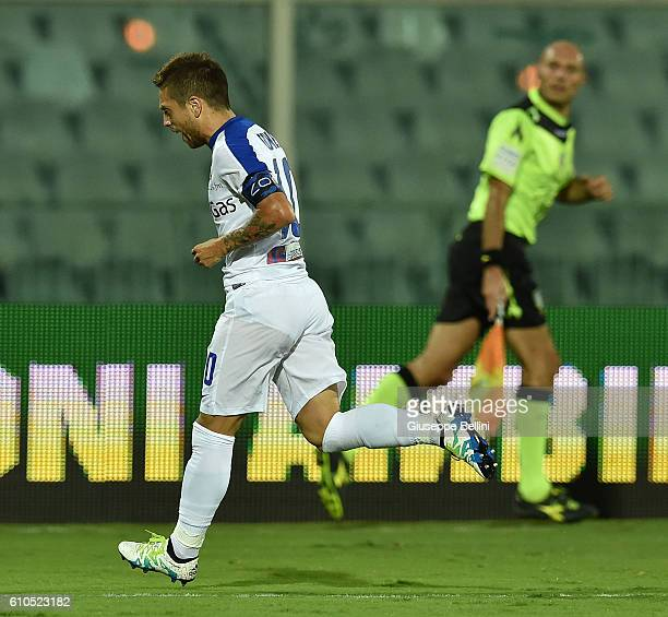 Alejandro Dario Gomez of Atalanta BC celebrates after scoring the goal 03 during the Serie A match between FC Crotone and Atalanta BC at Adriatico...