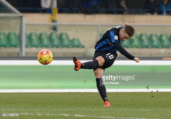 Alejandro Dario Gomez of Atalanta BC in action during the Serie A match between AC Chievo Verona and Atalanta BC at Stadio Marc'Antonio Bentegodi on...