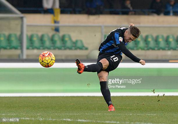 Alejandro Dario Gomez of Atalanta BC in action during the Serie A match between AC Chievo Verona and Atalanta BC at Stadio Marc'Antonio Bentegodi on...