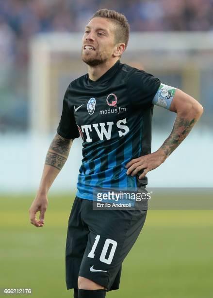 Alejandro Dario Gomez of Atalanta BC reacts during the Serie A match between Atalanta BC and US Sassuolo at Stadio Atleti Azzurri d'Italia on April 8...