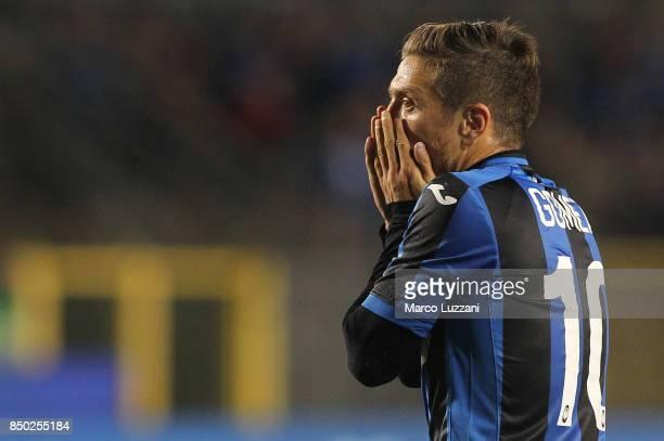 Alejandro Dario Gomez of Atalanta BC reacts to a missed chance during the Serie A match between Atalanta BC and FC Crotone at Stadio Atleti Azzurri...