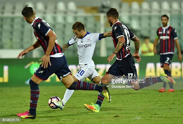 Alejandro Dario Gomez of Atalanta BC scores the goal 03 during the Serie A match between FC Crotone and Atalanta BC at Adriatico Stadium on September...