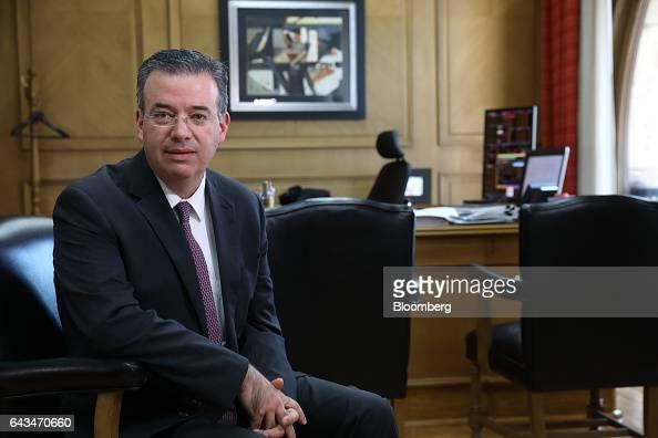 Alejandro Diaz de Leon deputy governor of Banco de Mexico sits for a photograph at the bank's headquarters in Mexico City Mexico on Monday Feb 20...