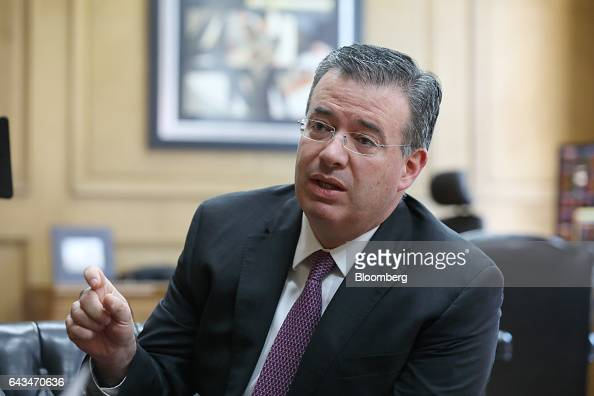 Alejandro Diaz de Leon deputy governor of Banco de Mexico speaks during an interview at the bank's headquarters in Mexico City Mexico on Monday Feb...