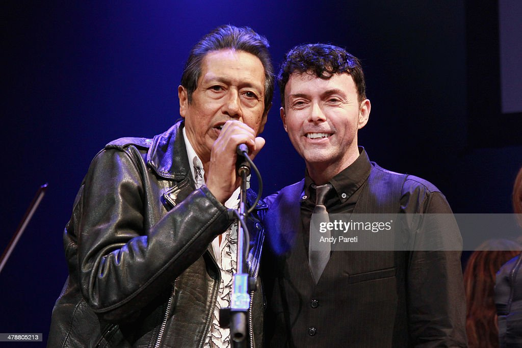 <a gi-track='captionPersonalityLinkClicked' href=/galleries/search?phrase=Alejandro+Escovedo&family=editorial&specificpeople=2529465 ng-click='$event.stopPropagation()'>Alejandro Escovedo</a> and Richard Barone perform onstage at the Lou Reed Tribute during the 2014 SXSW Music, Film + Interactive Festival at Paramount Theatre on March 14, 2014 in Austin, Texas.