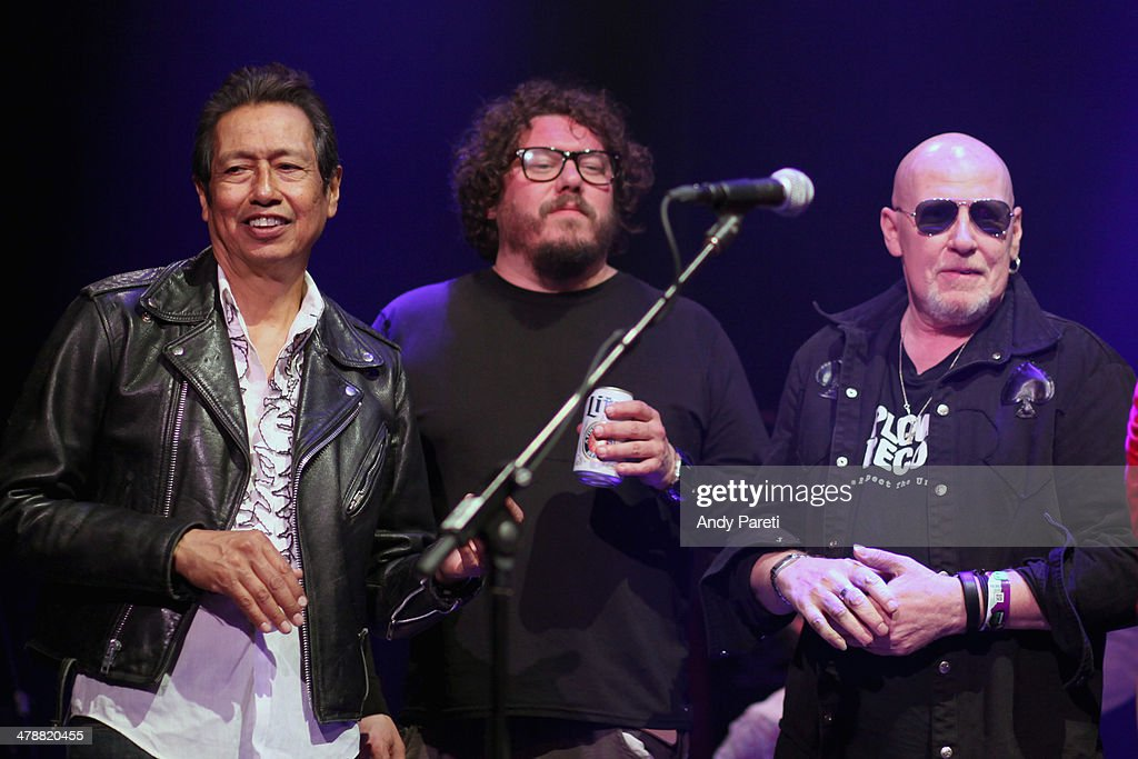 <a gi-track='captionPersonalityLinkClicked' href=/galleries/search?phrase=Alejandro+Escovedo&family=editorial&specificpeople=2529465 ng-click='$event.stopPropagation()'>Alejandro Escovedo</a>, <a gi-track='captionPersonalityLinkClicked' href=/galleries/search?phrase=Bobby+Bare+Jr.&family=editorial&specificpeople=2501526 ng-click='$event.stopPropagation()'>Bobby Bare Jr.</a> and <a gi-track='captionPersonalityLinkClicked' href=/galleries/search?phrase=Cheetah+Chrome&family=editorial&specificpeople=3030301 ng-click='$event.stopPropagation()'>Cheetah Chrome</a> perform onstage at the Lou Reed Tribute during the 2014 SXSW Music, Film + Interactive Festival at Paramount Theatre on March 14, 2014 in Austin, Texas.